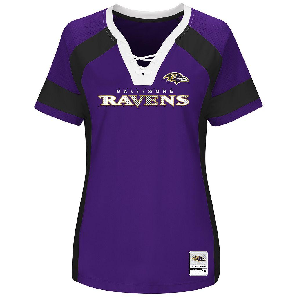 Women's Majestic Baltimore Ravens Draft Me Fashion Top