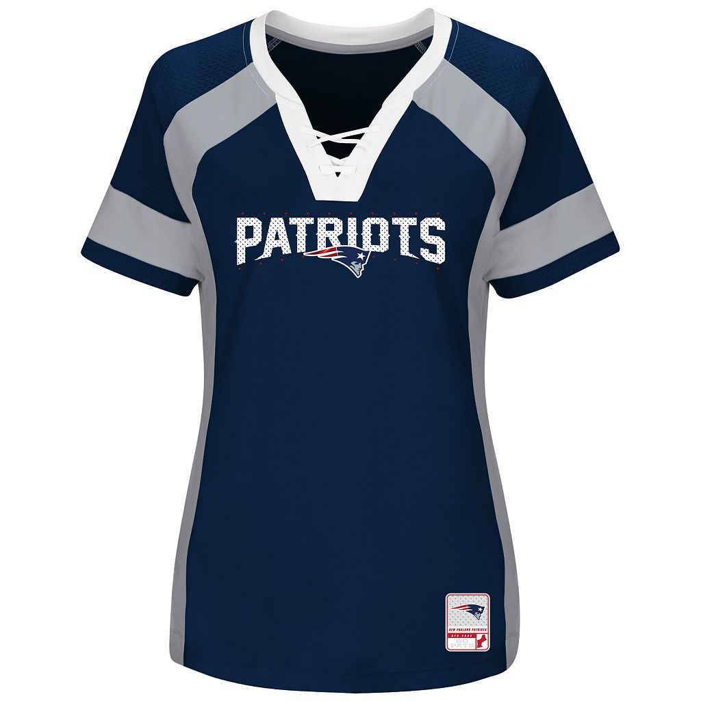 Women's Majestic New England Patriots Draft Me Fashion Top