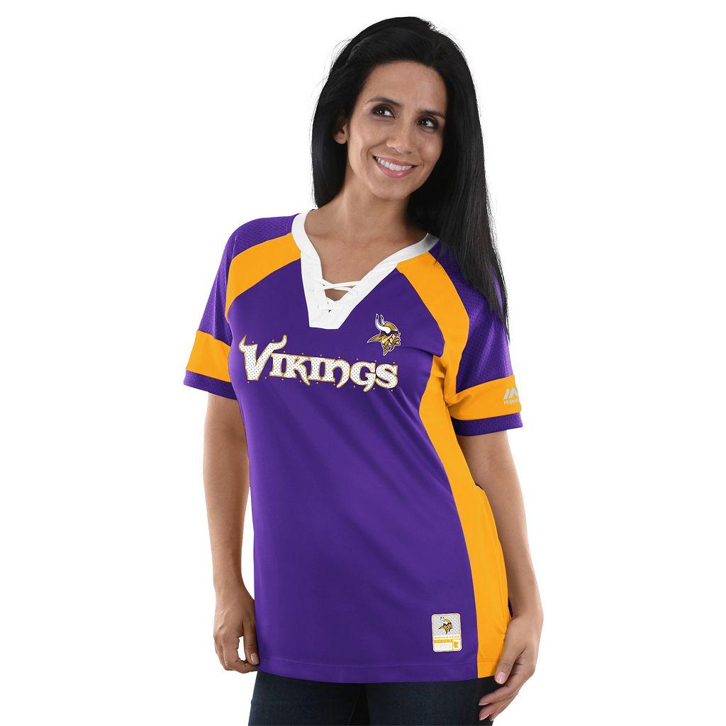 Women's Majestic Minnesota Vikings Draft Me Fashion Top