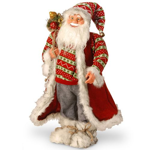 National Tree Company 26-in. Fairisle Santa Christmas Decor