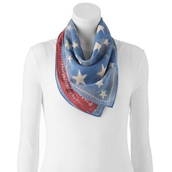 Mudd® 2-pk. Paisley & Star Bandana Square Scarves