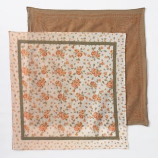 Mudd® 2-pk. Paisley & Floral Leaf Bandana Square Scarves