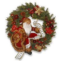 National Tree Company 22-in. Pre-Lit Artificial Christmas Wreath