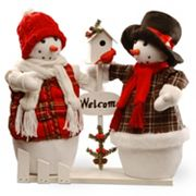 National Tree Company 16 in 'Welcome' Snowmen Table Decor