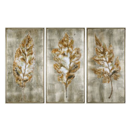 Champagne Leaves Framed Wall A...