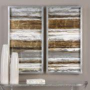 Uttermost Metallic Layers Framed Wall Art 2-piece Set