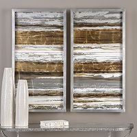 Metallic Layers Framed Wall Art 2 pc Set