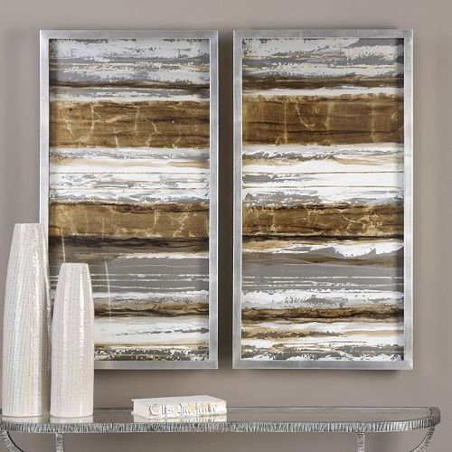 Uttermost Metallic Layers Framed Wall Art 2-piece Set