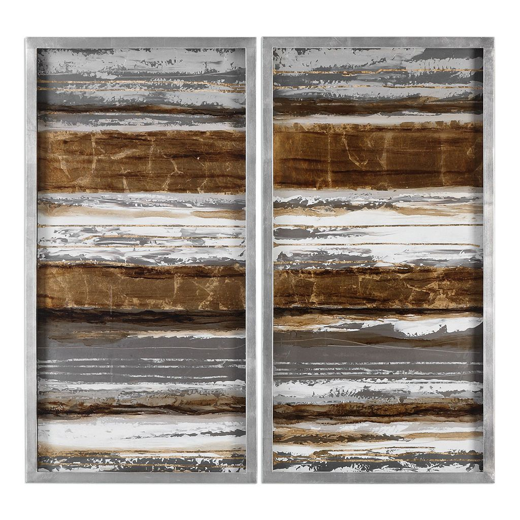 Metallic Layers Framed Wall Art 2-piece Set