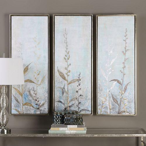 Shining Florals Framed Wall Art 3-piece Set