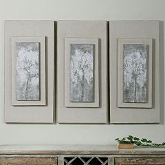 Triptych Trees Framed Canvas Wall Art 3 pc Set