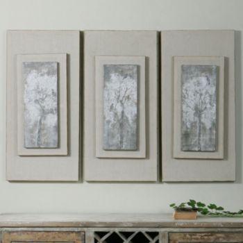 Triptych Trees Framed Canvas Wall Art 3-piece Set
