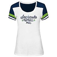 Women's Majestic Seattle Seahawks Foil Team Logo Tee