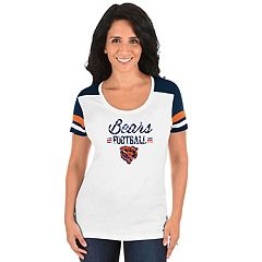 Women's Majestic Chicago Bears Foil Team Logo Tee