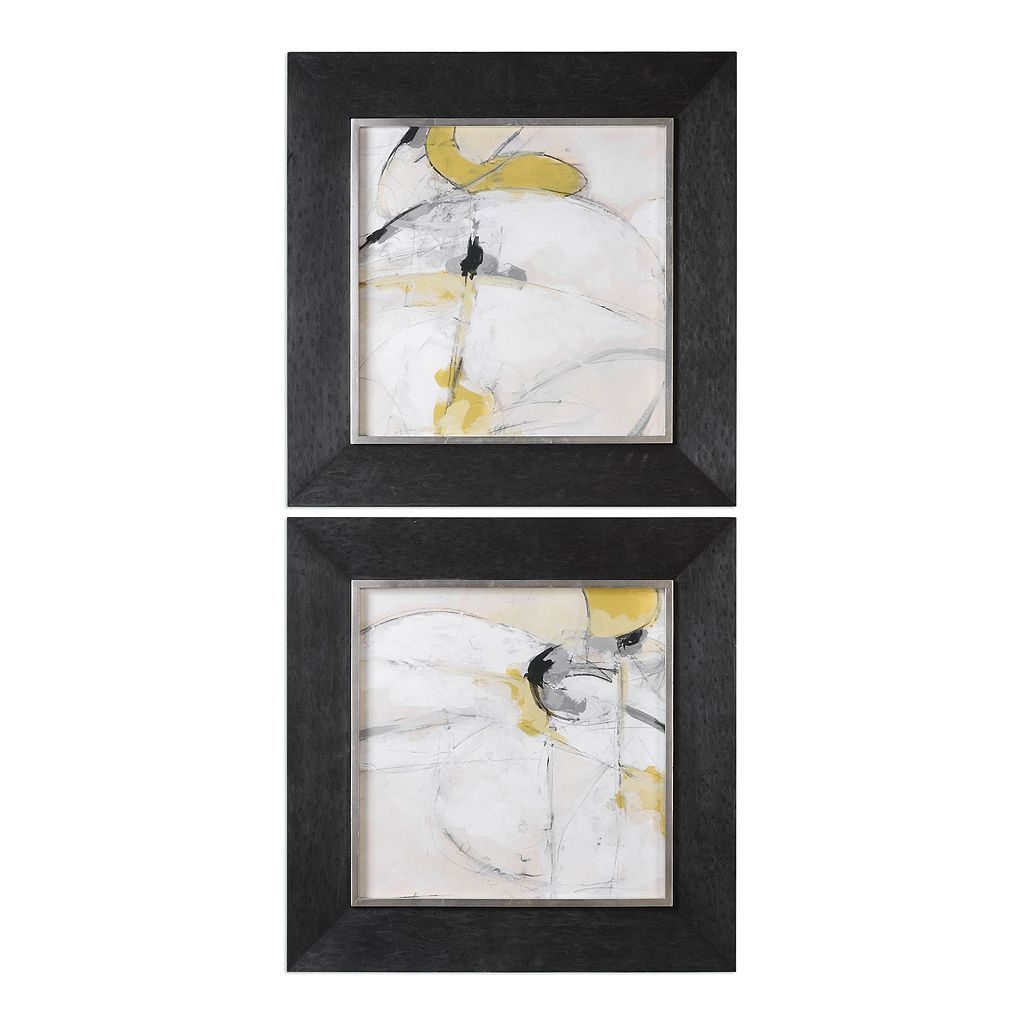 Trajectory Abstract Framed Wall Art 2-piece Set