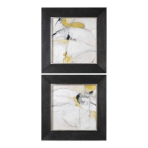 Trajectory Abstract Framed Wall Art 2-piece Set