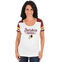 Women's Majestic Washington Redskins Foil Team Logo Tee