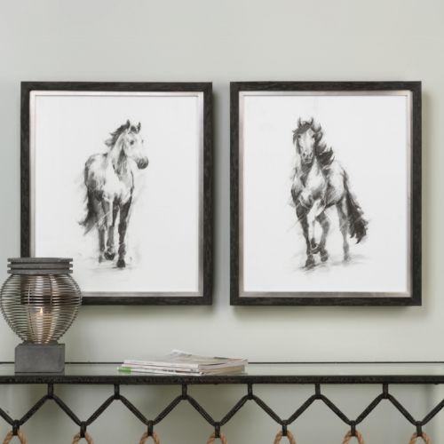Dynamic Equestrian Framed Wall Art 2-piece Set