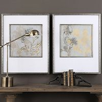 Shadow Florals Framed Wall Art 2-piece Set