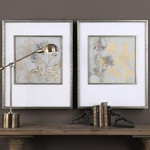 Shadow Florals Framed Wall Art 2-piece Set