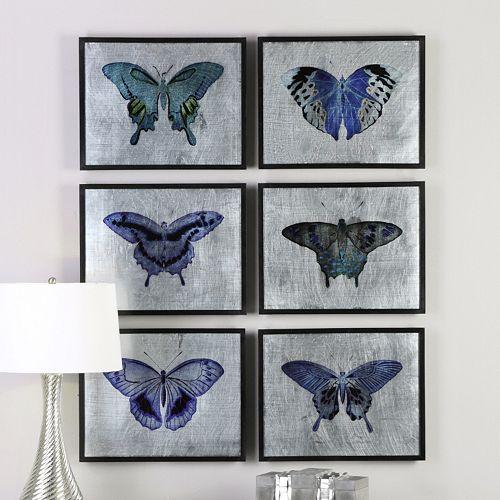 Vibrant Butterflies Framed Wall Art 6-piece Set