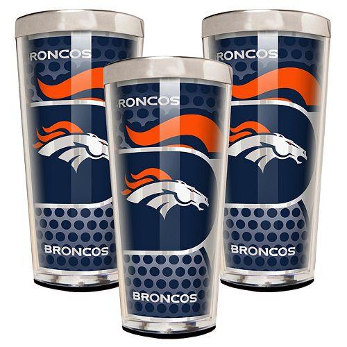 Denver Broncos 3-Piece Shot Glass Set