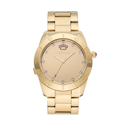 Juicy Couture Women's Connect Crystal Stainless Steel Smart Watch