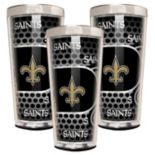 New Orleans Saints 3-Piece Shot Glass Set
