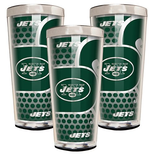 New York Jets 3-Piece Shot Glass Set