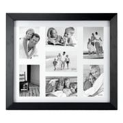 Malden Matted Black Berkely 7-Opening 4' x 6' Collage Frame