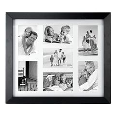 Malden Matted Black Berkely 7-Opening 4' x 6' Collage Frame