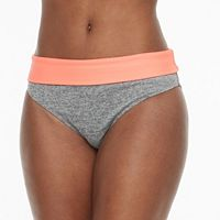 Women's RBX Colorblock Mesh-Trim Scoop Bikini Bottoms