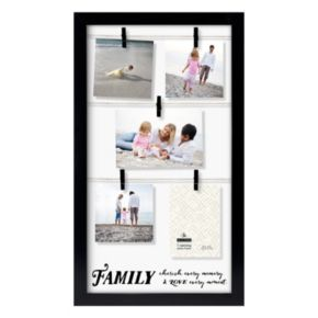 "Malden Family Clothespin 5-Opening 5"" x 7"" Collage Frame"
