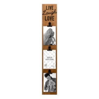 "Malden ""Live Laugh Love"" Barnwood 3-Opening 4"" x 6"" Photo Clip Memory Stick"