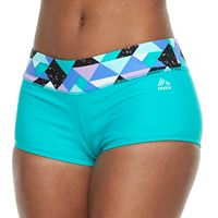 Women's RBX Geometric-Trim Boyshort Bottoms