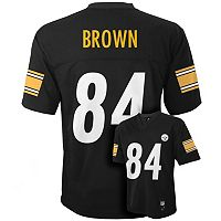Boys 8-20 Pittsburgh Steelers Antonio Brown NFL Replica Jersey