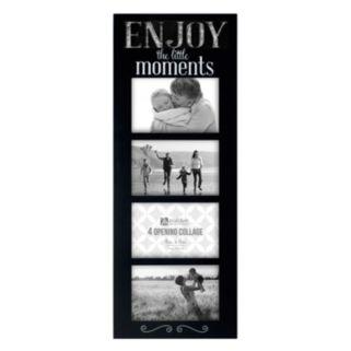 "Malden ""Enjoy Moments"" Galvanized 4-Opening 4"" x 6"" Collage Frame"