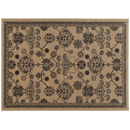 StyleHaven Faulkner Updated Traditional Framed Floral Wool Rug