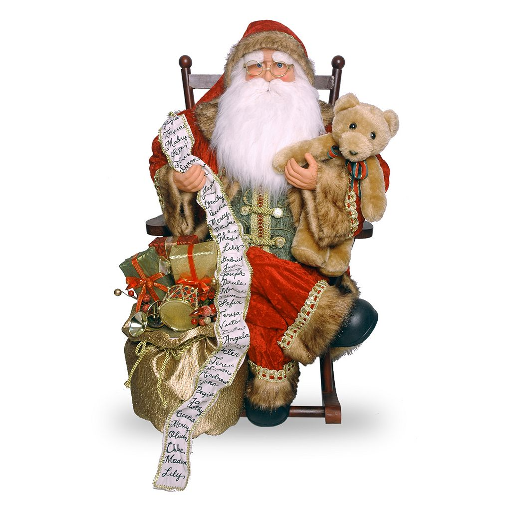 National Tree Company 31-in. Rocking Chair Santa Christmas Decor