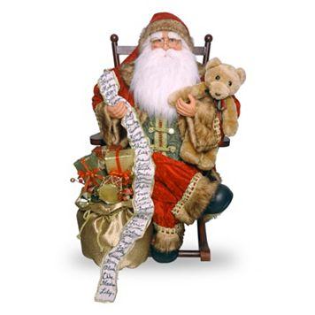 National Tree Company 31-in. Rocking Chair Santa Christmas Decor