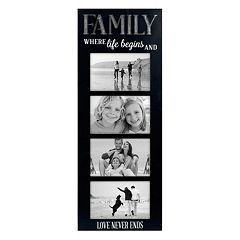 Malden 'Family' Galvanized 4-Opening 4' x 6' Collage Frame