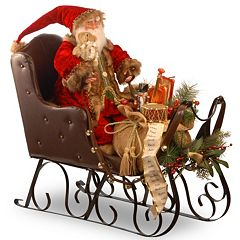 National Tree Company Traditional Santa Sleigh Christmas Decor