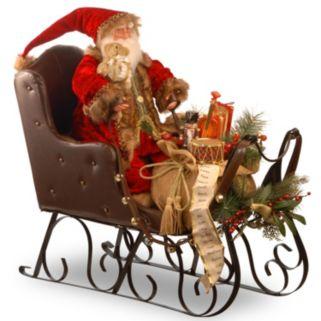 National Tree Company Traditional Santa Sleigh Christmas Decor