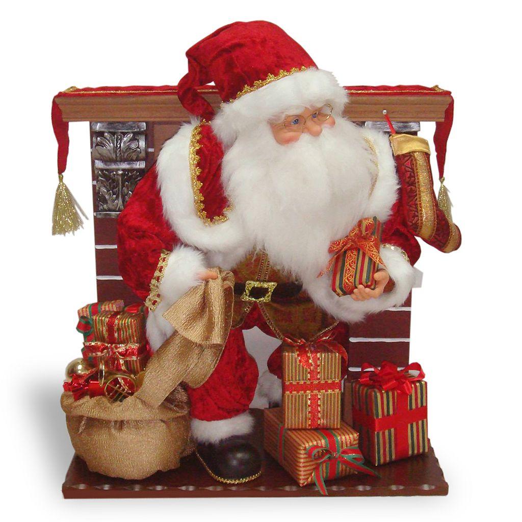 National Tree Company Fireplace Santa Christmas Decor