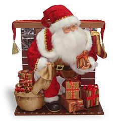 National Tree Company Fireplace Santa Christmas Decor