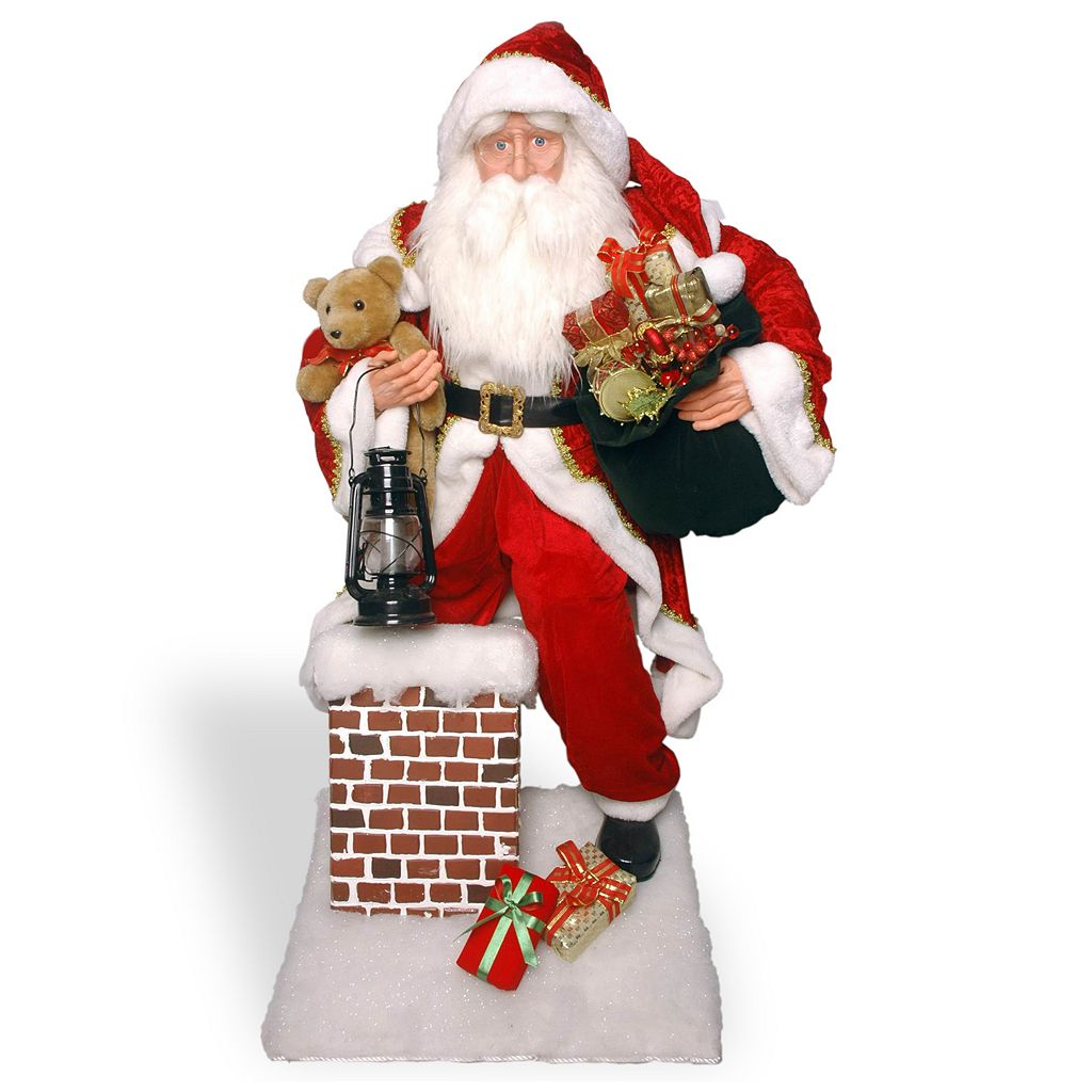 National Tree Company 54-in. Santa Chimney Christmas Decor