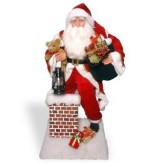National Tree Company 54-in. Santa Chimney Christmas Decor