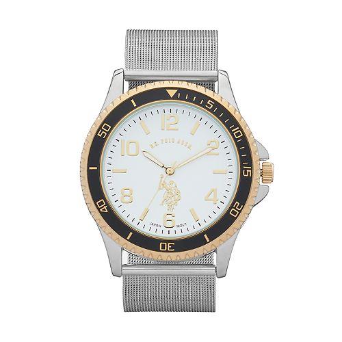 U.S. Polo Assn. Men's Two Tone Mesh Watch - USC80355KL