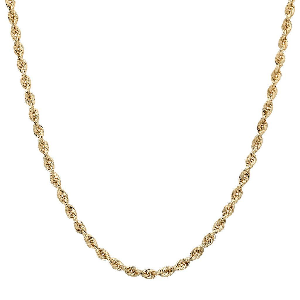 Everlasting Gold 14k Gold Diamond-Cut Rope Chain Necklace - 22 in.