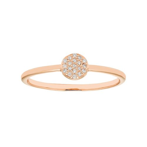 10k Gold Diamond Accent Circle Ring